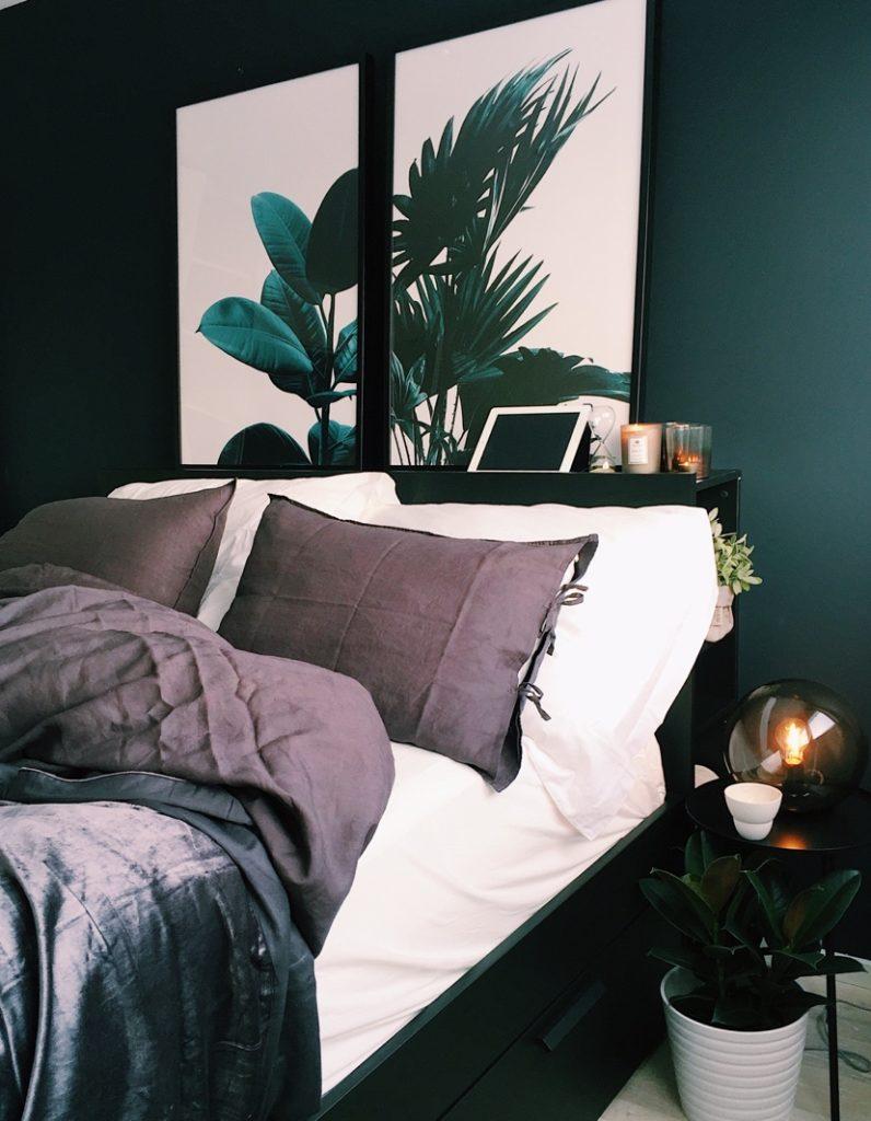 tête de lit avec tiroirs